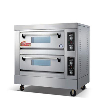 Double Deck Electric Pizza Oven with Thermometer for Sale Professional Pizza House