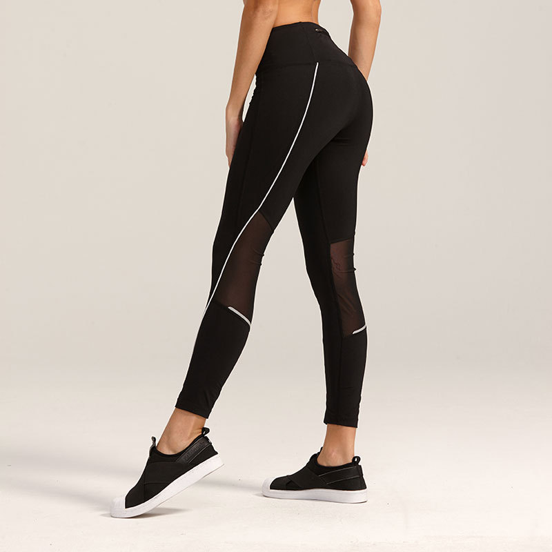 Ladies Fitness Running Tights Waistband Workout Exercise Yoga Capri Pants