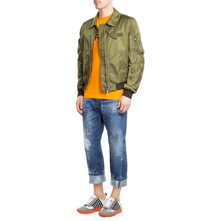 縫製工場冬ダウンコート反射カスタムフグ男ジャケット