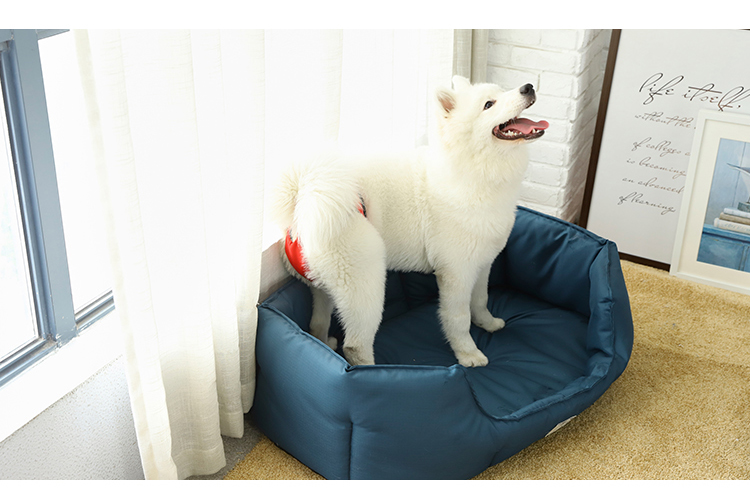 Three Colors Luxury Washable Oxford fabric Material Waterproof Pet Dog Supplies Bed