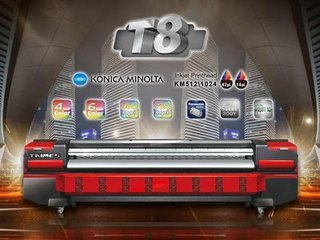 Guangzhou large format Taimes solvent printer with KM512/KM1024
