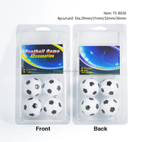 Dia.29/31/32/36mm Football Soccer table ball 4pcs pack in Blister card