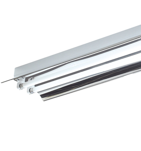 Iron material T8/2*30w linear tube light fitting with reflector