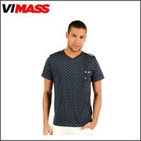 Newest design all over print t-shirt, cheap v-neck t-shirt whoelsale ,fashion Floral t-shirt for men