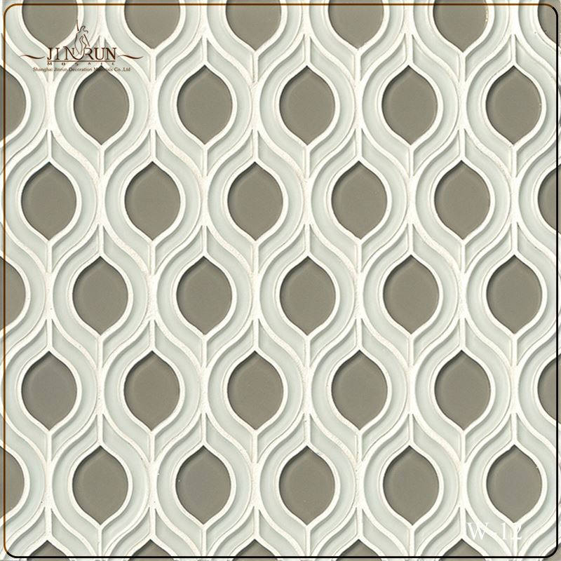 Bianco Carrara mix Nero Marquina mix Wood Light Grain mix Pearl Ginkgo Water Jet Marble Mosaic Tile for Kitchen