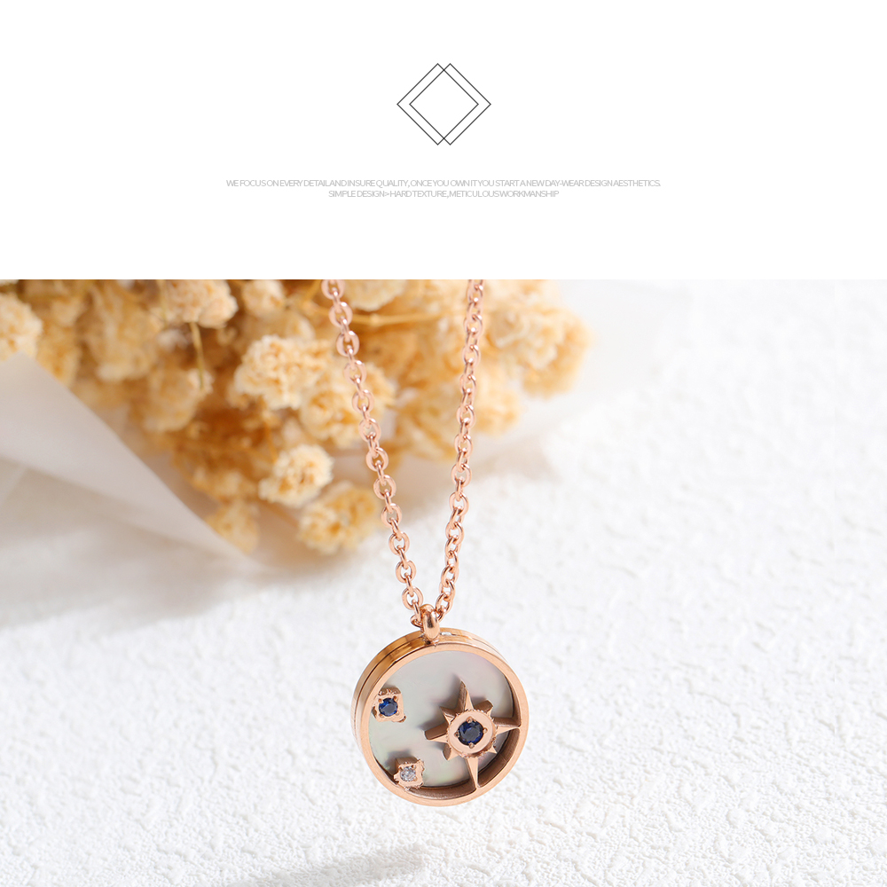 Fashion New Jewelry Wholesale Rose Gold Women Mini Pendant Necklace