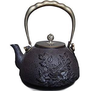 Domestic Southern Iron iron kettle ih corresponding direct fire support south iron kettle kettle ih southern iron teapot fashionable Dofuta button Peony Pattern 1.2 Little TB046