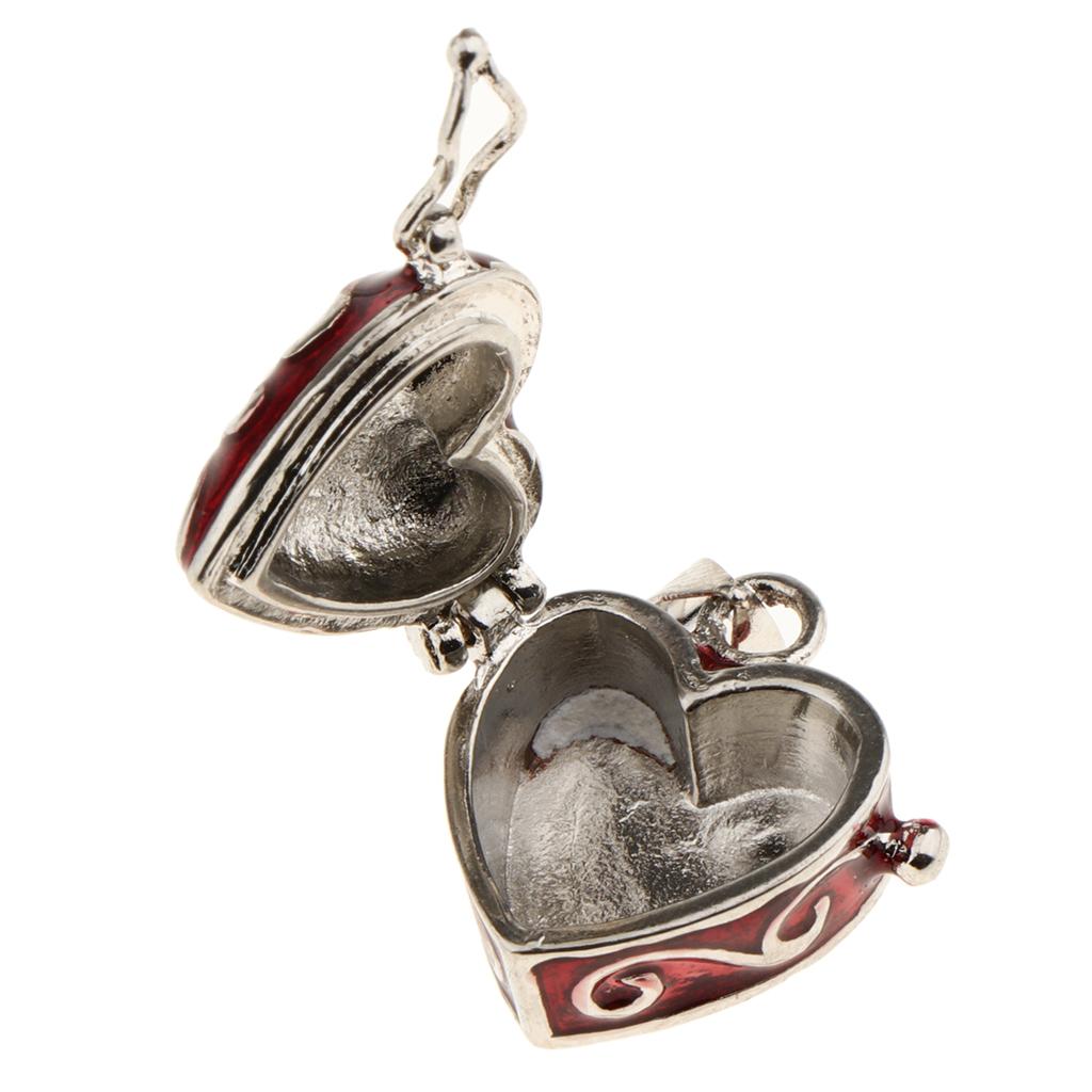 Love Heart Urn Pendant Locket Wish Ash Beads Mini Box Memorial Keepsake