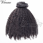 VMAE Brazilian 10A Natural Black Afro Kinky Curly 3B 3C 4A 4B 4C Double Drawn Cuticle Aligned Raw Virgin Clip In Hair Extensions