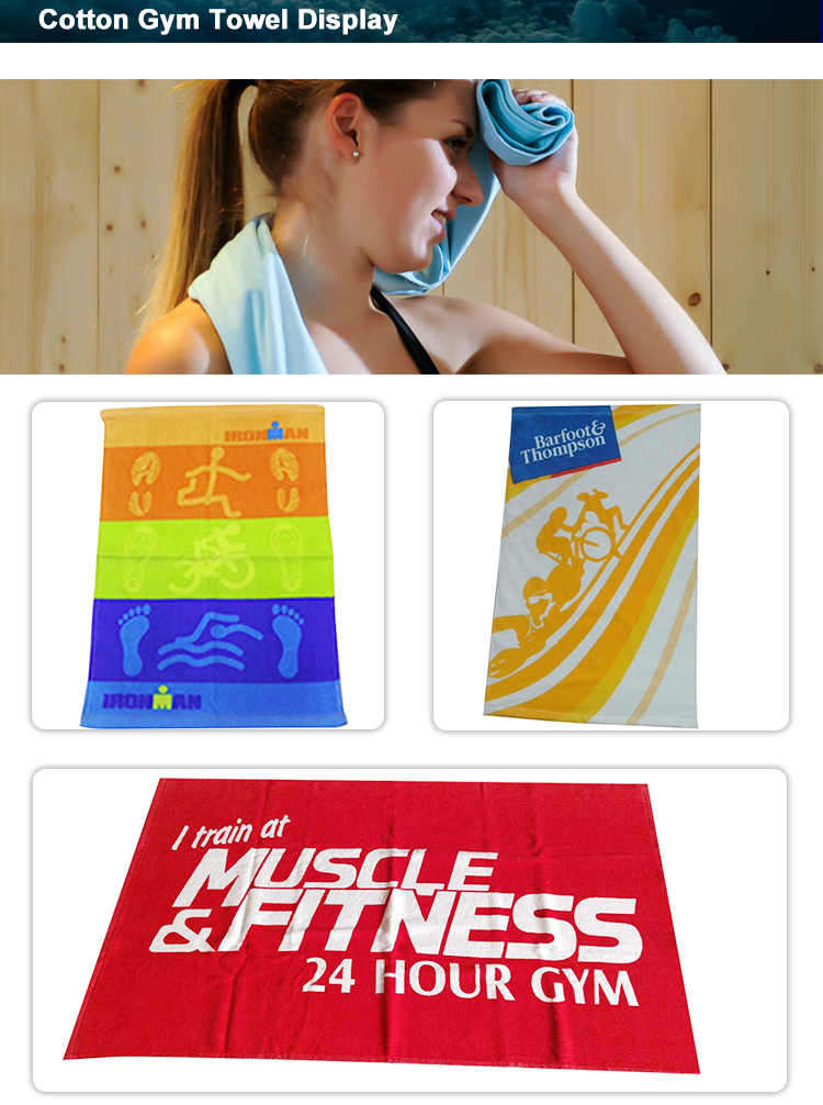 Custom antibacterial microfiber sport gym towel with embroidered logo zipper pocket