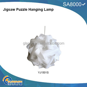 puzzle lamp new design flower shape lampshade PP hanging lamp