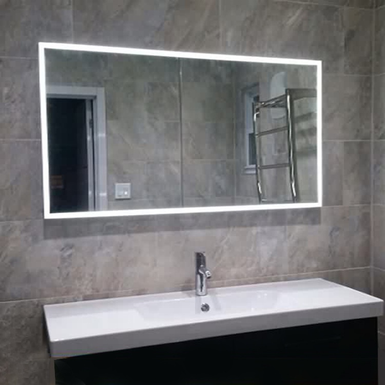 Norhs Contemporary Wall Mount Large Long Illuminated Led Lights Electric  Bathroom Mirror For Home And Hotel Project - Buy Bathroom Mirrors With  Lights ...