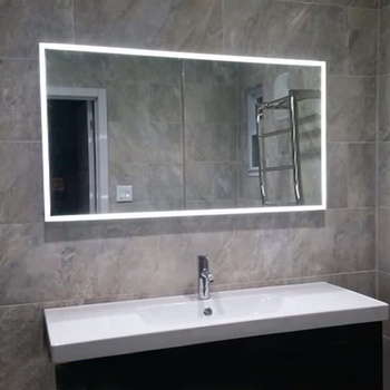 Norhs Contemporary Wall Mount Large Long Illuminated Led Lights Electric Bathroom Mirror For Home And Hotel Project Mirrors With