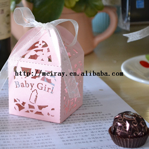 China Wholesale Paper Crafts Baby Shower Candy Boxes Favor Small