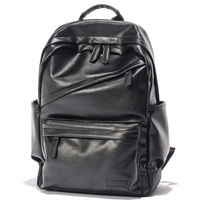 Wholesale leather backpack man fashion style bag PU leather school backpack leather
