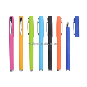 Wholesale Bulk Cheap Promotional Rainbow Gel ink Pens with Logo