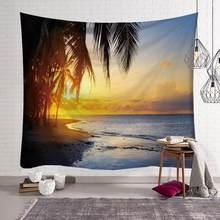 Красивый настенный подвесной гобелен с видом на море, домашний декор, полотенце пляжное пикник, покрывало, коврик мандалы, пейзаж на море(Китай)