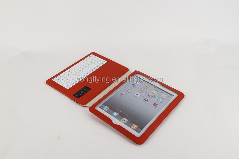 Red Keyboard power bank case for ipad