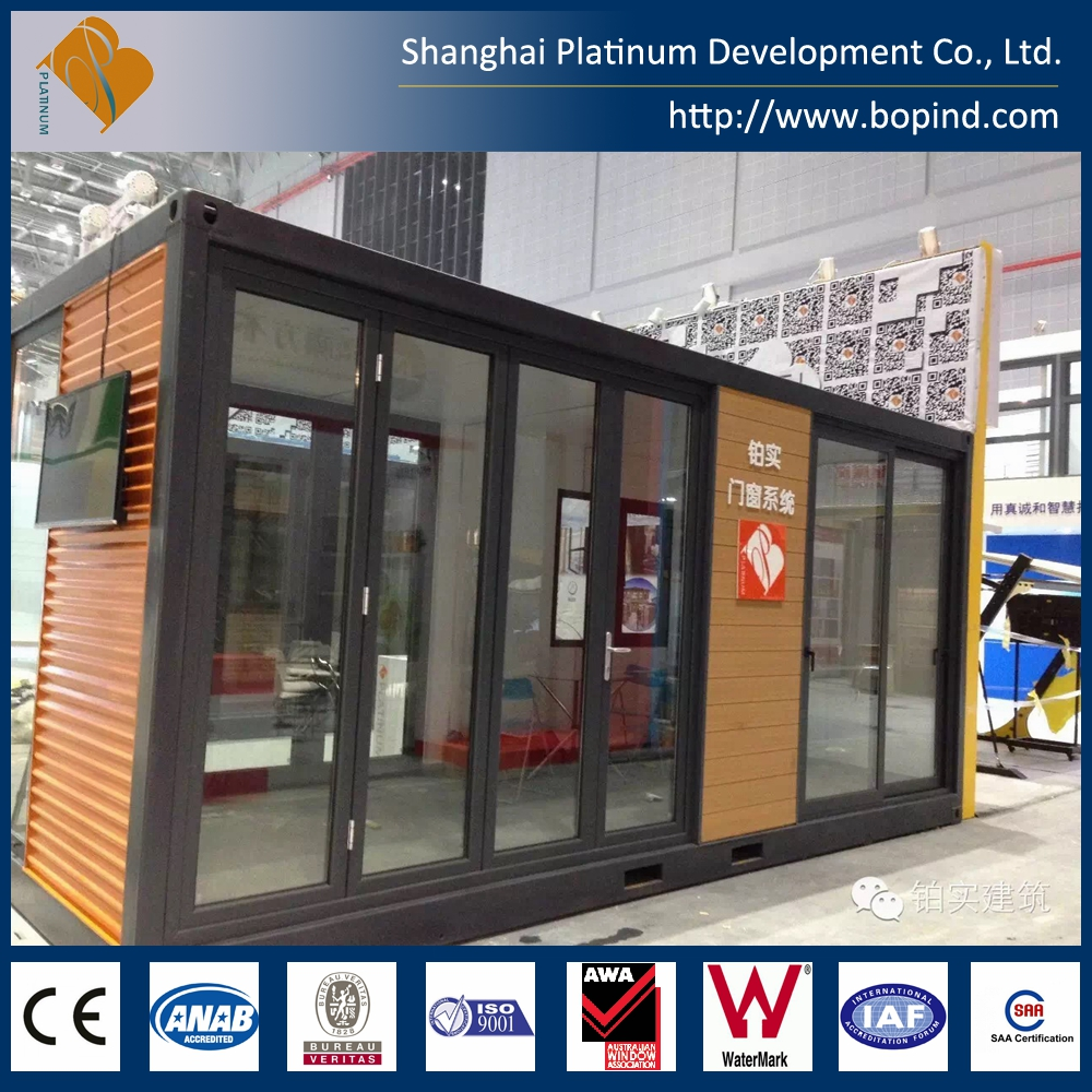 Aluminum double glazed sliding door CE/AWA certicicated