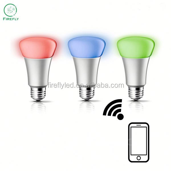 OEM available color changing home automation wifi smart led light bulb with CE ROHS