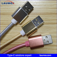 LAUMOX good factory price 3 in 1Type c data cable usb USB Type C Cable wholsale USB Type C Cable