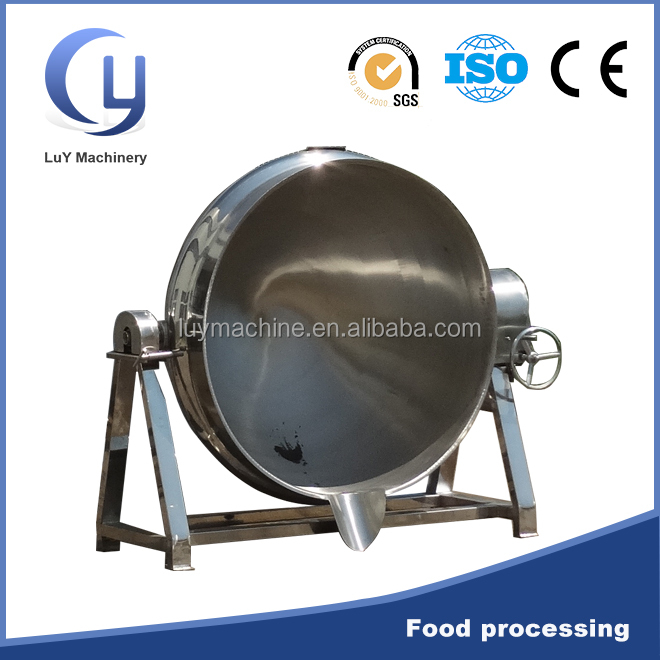 Tilting steam industrial stainless steel cooking pot 100l