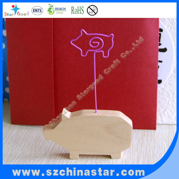 Red cute kinds of magnetic memo holder clip