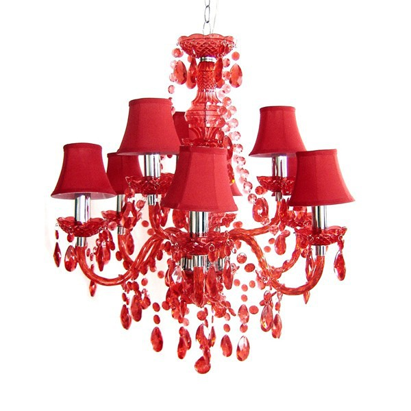 Y00013 romeo 9 gloss red lights red crystal chandelier light y00013 romeo 9 gloss red lights red crystal chandelier light pendant lamp for sale aloadofball Images