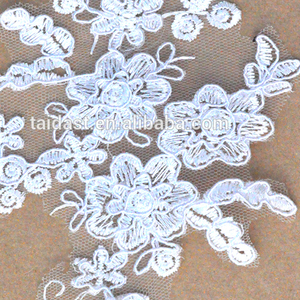 Latest White Cotton Lace Embroidery Fabric For Sarees Borders,Factory supplier wholesale african embroidery lace trimming