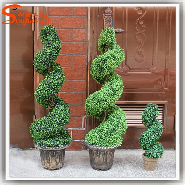 Wholesale all types of artificial ornamental plants plastic plants wire topiary frame trees and plants