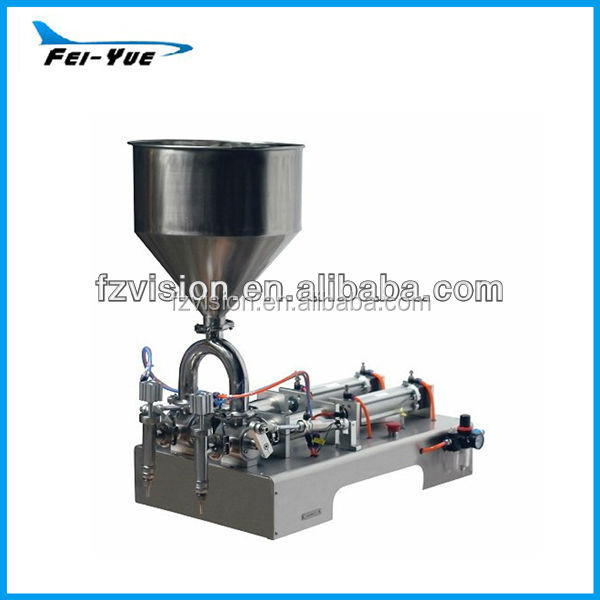 Stainless steel Pneumatic two head Double-nozzle Semi automatic Filling machine cream paste filler