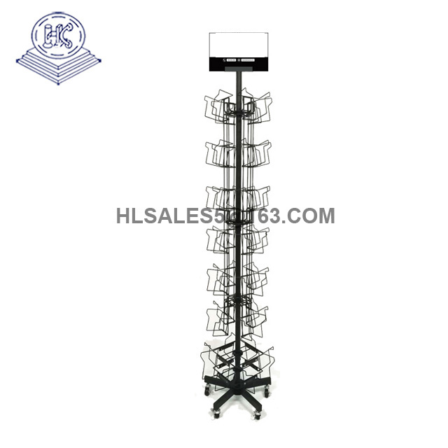 brochure spinner display stand