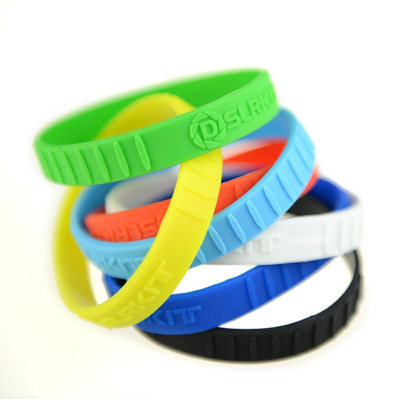 DSLRKIT Silicone Lens Rubber Ring Bracelet Wristbands SET (7 colors, 7PCS)