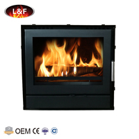 Modern Design Cold Rolled Steel Wood Burning Cassette Stove Insert Type