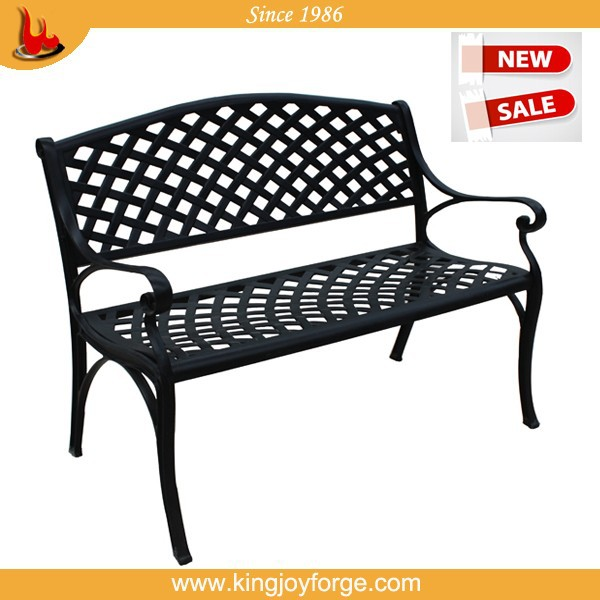 Outdoor modern leisure steel garden patio bench