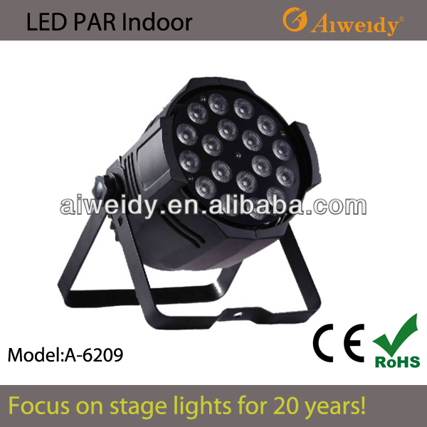 INDOOR 10w 18pcs RGBW 4IN1 LED PAR CANS