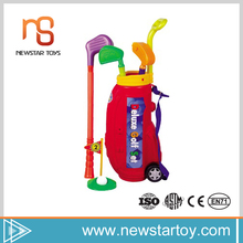 2017 factory price kids plastic mini golf set for outdoor sport game