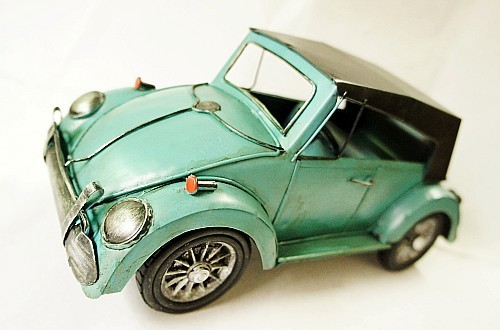 Metal model car blue small beetles business gift home