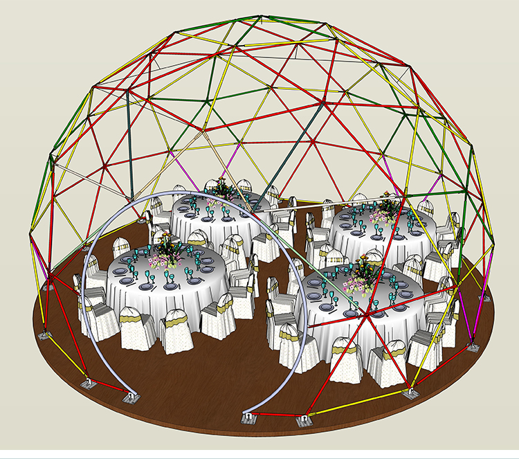 polygon dome tent diamrter in different shape for disaster Relief-2