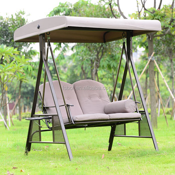 Outdoor Furniture 4 Seat Swing Chair Garden Two