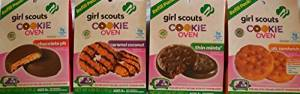 Girl Scouts Cookie Oven Refill Packs - One (1) Thin Mints - One (1) pb Sandwich - One (1) Chocolate pb - One (1) Caramel Coconut - 0g TRANS FAT!