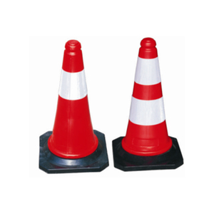 High visibility Rubber Traffic Cone for roadway safety