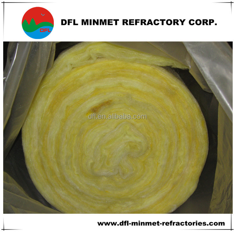 fiberglass wool heat insulation and sound reduction with aluminium foil