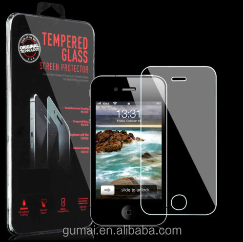 9h 0.33mm tempered glass clear screen protector for IPhone4/4s