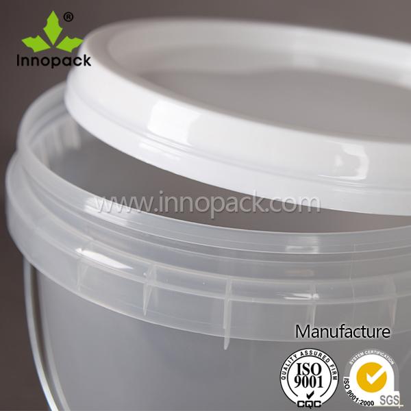 Klar 10l kunststoff farbe container kunststoff transparent for Eimer mit deckel 10l