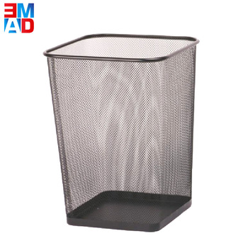 Cheap new pattern office square metal wire mesh dust bin