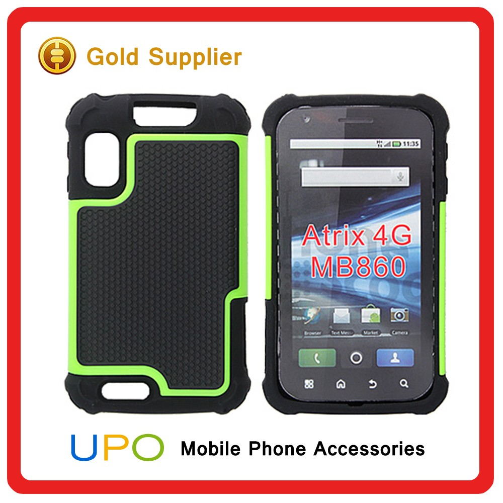 [UPO] Wholesale Soccer Design 2 in 1 Hybrid Armor Defender Phone Case for Moto Atrix 4G Mb860