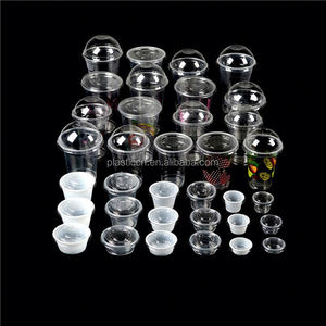 wholesale plastic cups with lids/ 16oz plastic cup / 600ML custom printed plastic jelly cup