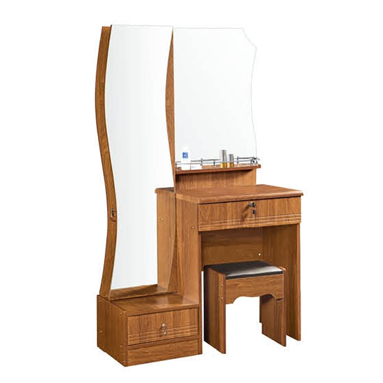 Simple design mdf dressing table with small stool modern for Beauty table style css