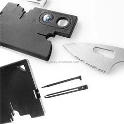 Stainless Steel Credit Card Size Survival Tool Multipurpose Wallet Bottle Opener Knife Ruler For Promotion